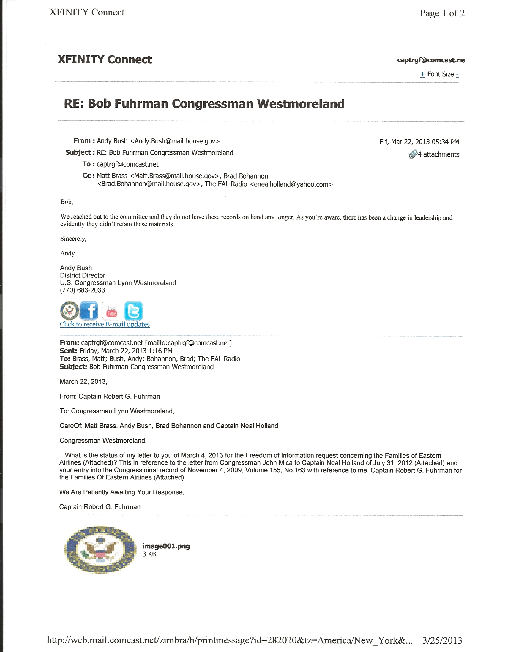 Westmoreland Freedom Lost Email copy